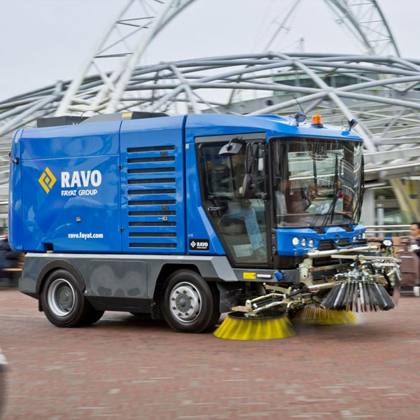 Blue Ravo 5-iSeries Street Sweeper Cleaning Park Walkway