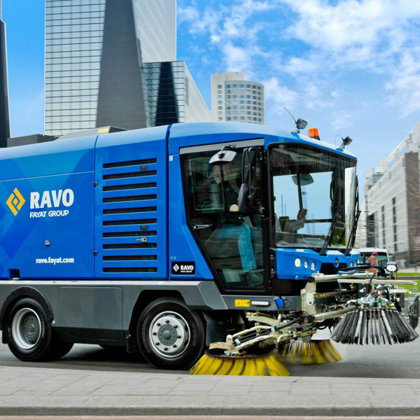 Blue Ravo 5-iSeries Street Sweeper Cleaning Road