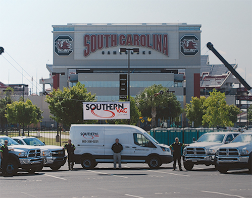 Southern Vac offering field service outside of the South Carolina Gamecocks stadium