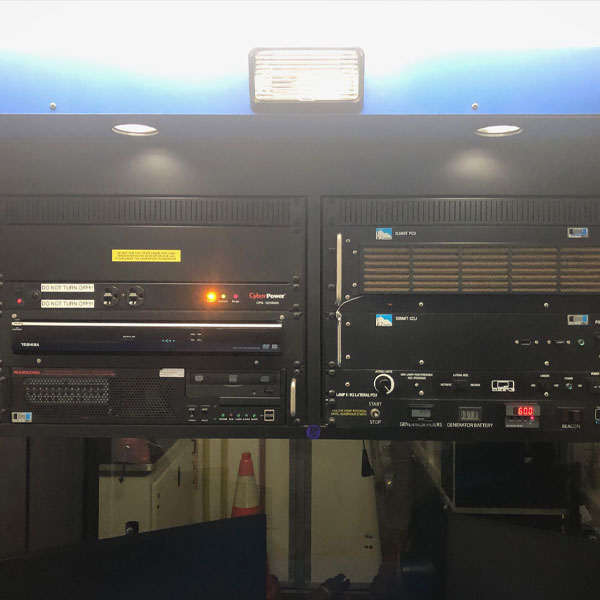 Inside Shot of CUES Hi-Cube Camera Truck