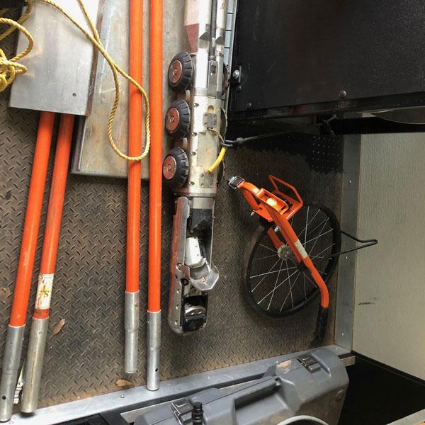 Inside Shot of Tools for CUES Hi-Cube Camera Truck