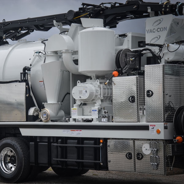 Close-Up Shot of Vac-Con X-Cavator Truck