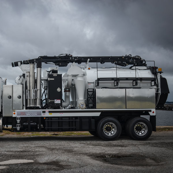 Side View of Vac-Con X-Cavator Truck