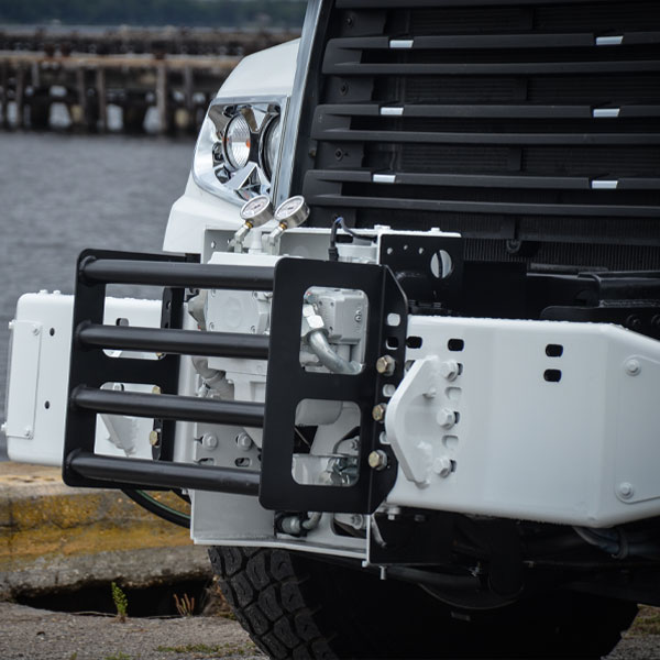 Close-Up Front View of Vac-Con X-Cavator Truck