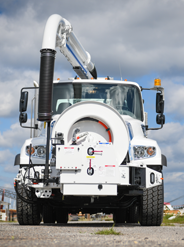 Vac-Con Hydro-Excavation Truck Front View