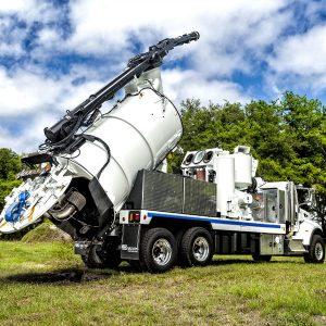 Vac-Con X-Cavator Truck in use