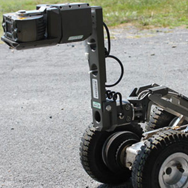 The Rausch inspection camera in an upright position