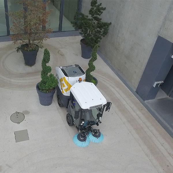 Mathieu MC110 Street Sweeper Overhead View