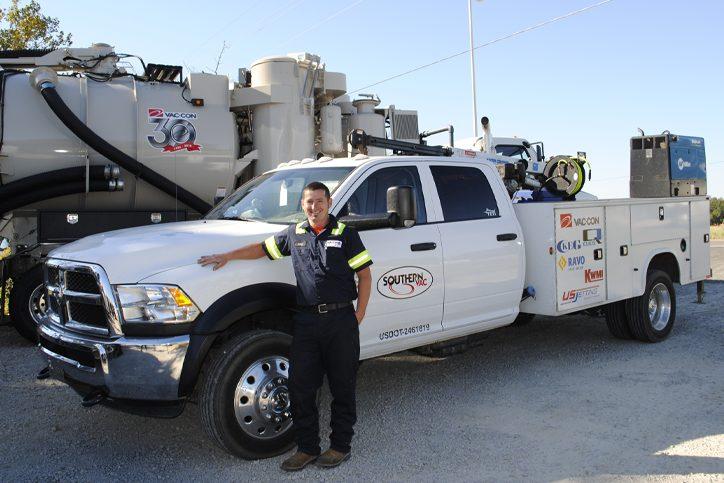 smiling field service technician