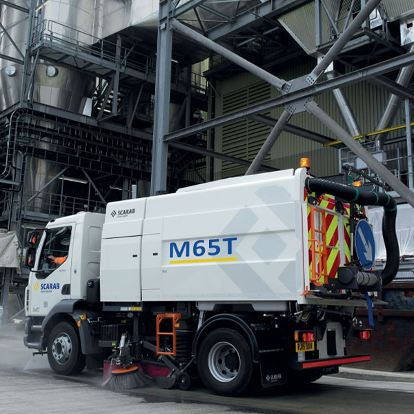 Scarab M65T Street Sweeper at Industrial Plant