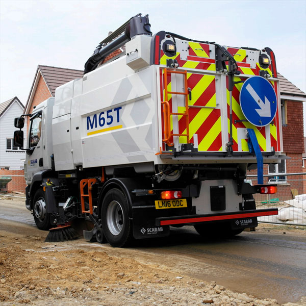 Scarab M65T Street Sweeper on Unpaved Road