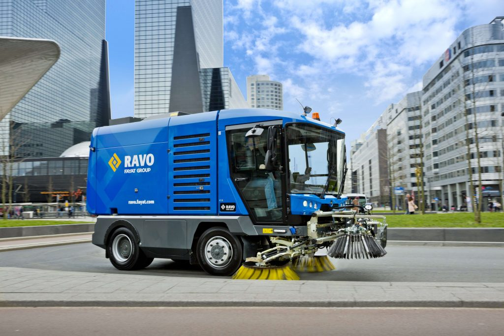 Used Ravo 5 iSeries Sweeper 3 Cleaning City Streets