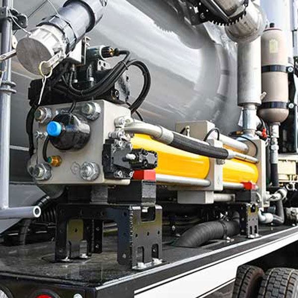 Vac-Con Recycler Truck Filtration System Closeup