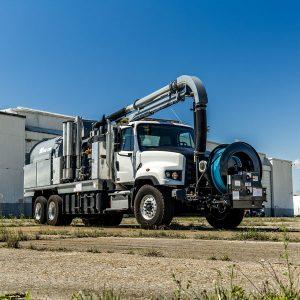 Vac-Con Single Engine Vacuum Truck Quarter View