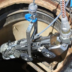 Rausch Lateral Launch System Over Manhole