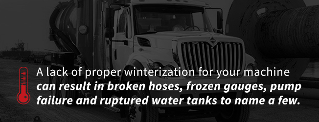 A lack of proper winterization for your machine can result in broken hoses, frozen gauges, pump failure and ruptured water tanks to name a few negative outcomes.
